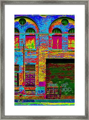 Psychadelic Architecture Framed Print