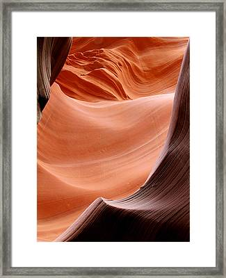 Psychedelic Art - Antelope Canyon Framed Print by Christine Till
