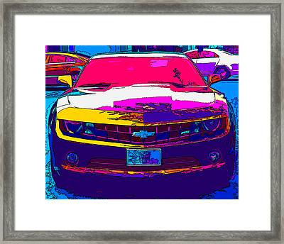 Psychedelic Camaro Framed Print by Samuel Sheats