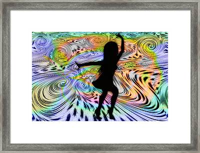Psychedelic Dancer Framed Print by Bill Cannon