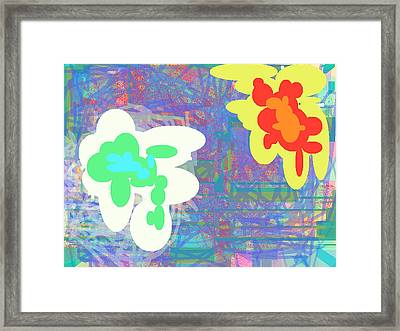 Psychedelic Drips Visit The Water Lilies Framed Print