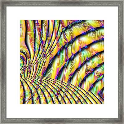Psychedelic Fractal  Framed Print