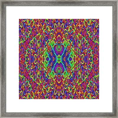 Psychedelic Kaleidoscope  Framed Print by Gina Lee Manley