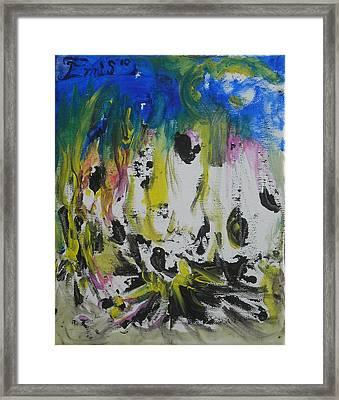 Psychedelic Martian Meltdown Framed Print