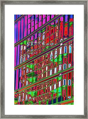 Psychedelic Reflection Of Barcelona 12 Framed Print by Richard Henne