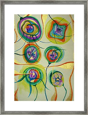 Framed Print featuring the painting Psychedelic Xmas Ornaments by Erika Swartzkopf
