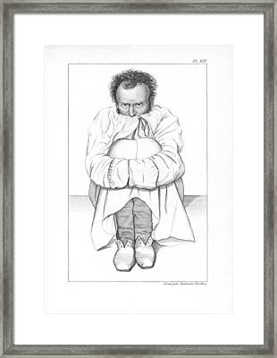 Psychiatric Patient, 19th Century Framed Print