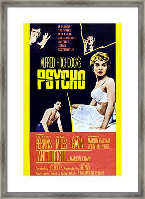 Psycho, Clockwise From Top Left Anthony Framed Print by Everett