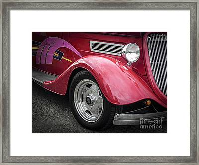 Psycho Flames Framed Print by Chuck Re