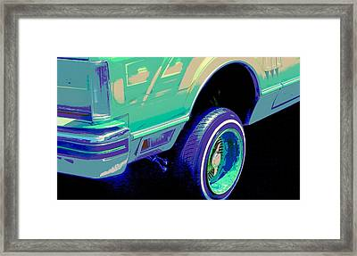 Psycho Lincoln Low Rider Framed Print by Chuck Re