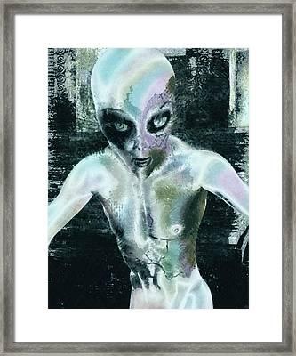 Psychotropic Alien Framed Print by Maynard Ellis
