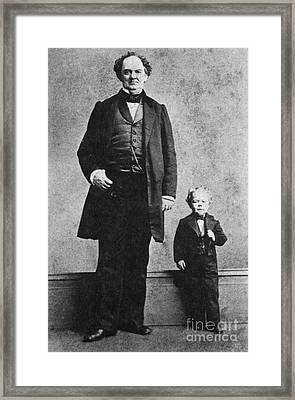 P.t. Barnum And Commodore Nutt, 1863 Framed Print by Science Source