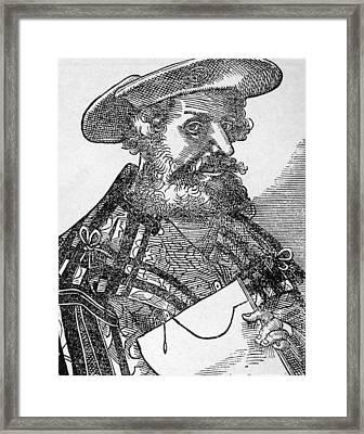 Ptolemy Ca. 90- Ca. 168 Ad, Woodcut Framed Print by Everett