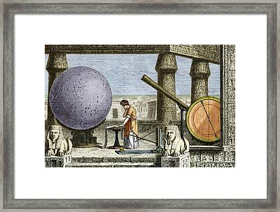Ptolemy's Observatory, 2nd Century Ad Framed Print by Sheila Terry