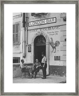 Pub On The Rock Framed Print by Fox Photos