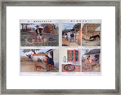 Public Health Education In Red China Framed Print by Everett