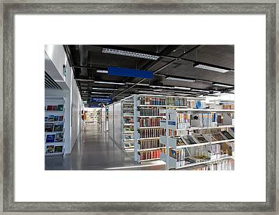 Public Library Interior Framed Print by Jaak Nilson