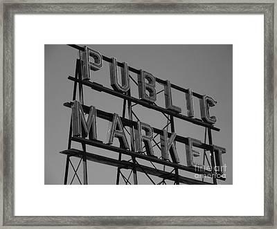 Public Market Framed Print by Monika Pabon
