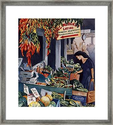 Public Market With Chilies Framed Print