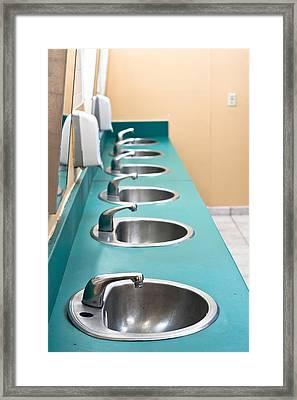 Public Restroom Framed Print by Tom Gowanlock