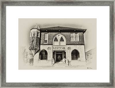 Public School Framed Print
