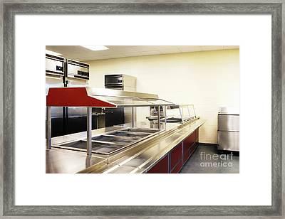Public School Food Bins Framed Print by Skip Nall