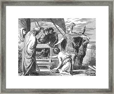 Publius Claudius Pulcher And The Sacred Framed Print