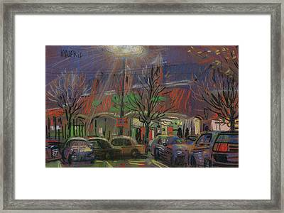 Publix In The Evening Framed Print by Donald Maier