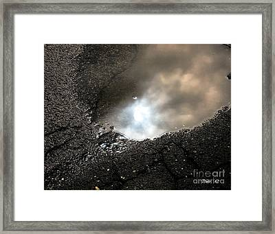 Puddle Art 7 Framed Print by Dale   Ford