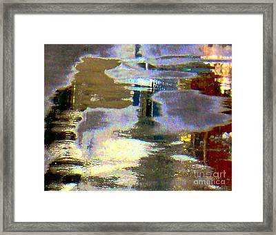 Puddle Art 8 Framed Print