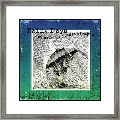 Puddle Stompin Days Framed Print