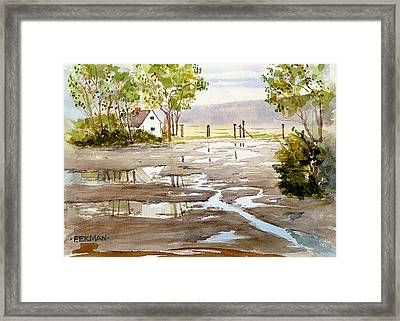 Puddles Framed Print by Fred Ekman