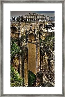 Puente Nuevo - Parador De Ronda Framed Print by Juergen Weiss