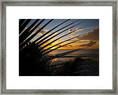 Puerto Rican Sunset IIi Framed Print by Tim Fitzwater