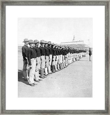 Puerto Ricans Serving In The American Colonial Army - C 1899 Framed Print by International  Images