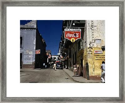 Puerto Rico. Street In San Juan, Puerto Framed Print by Everett