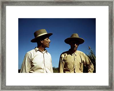 Puerto Rico. Sugar Cane Workers Framed Print by Everett