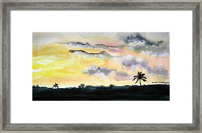 Puerto Rico Sunset Framed Print by Diane Vasarkovy