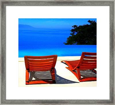 Puerto Vallarta Pool Framed Print by Randall Weidner