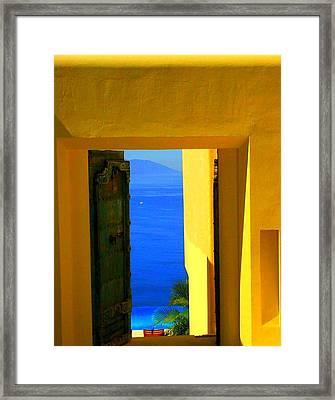 Puerto Vallarta Portal Framed Print by Randall Weidner
