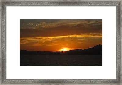 Framed Print featuring the photograph Puerto Vallarta Sunset by Marilyn Wilson