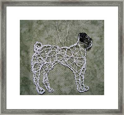Pug Framed Print by Charlene White