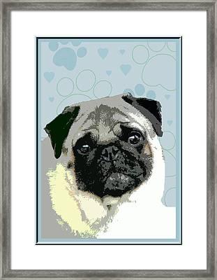 Pug Framed Print by One Rude Dawg Orcutt