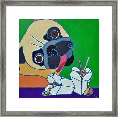 Pug-zilla Framed Print