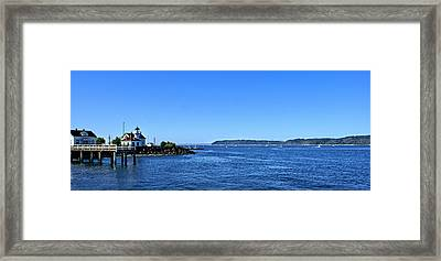 Framed Print featuring the photograph Puget Sound Light Hosue by Rob Green