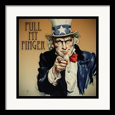 Flagg Digital Art Framed Prints