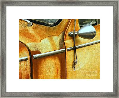 Pull To Start Framed Print