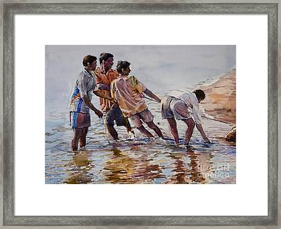 Pulling Togather Framed Print by Seema Ghiya
