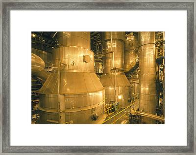 Pulp-digesting Plant In Paper Mill Framed Print
