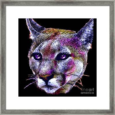 Puma Portrait Framed Print